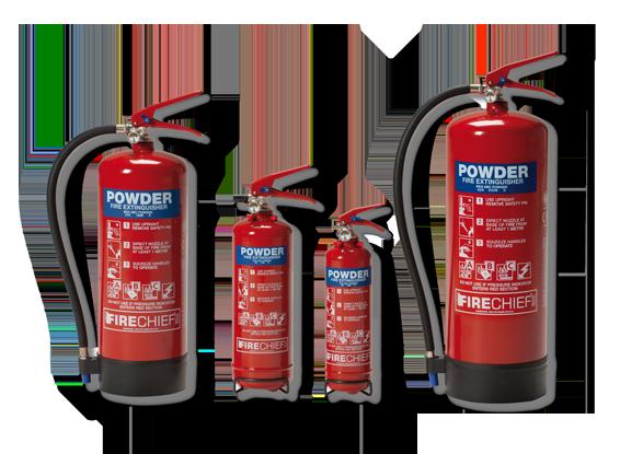 ABC Dry Powders Extinguishers (Fire Class A, B, C)