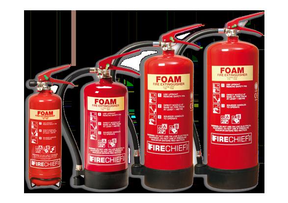Foam Spray Extinguishers (Fire Class A & B)